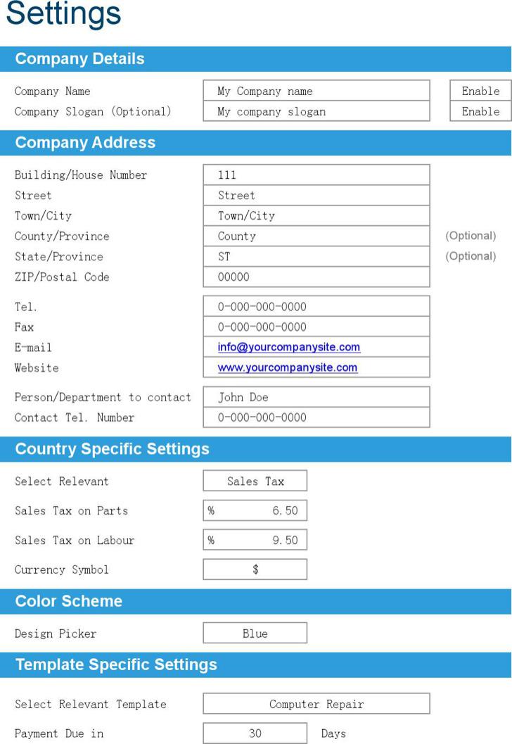 6+ Repair Invoice Templates Free Download