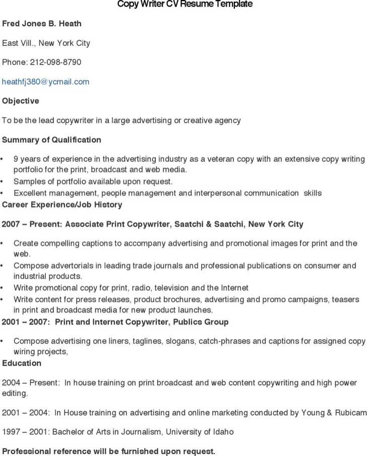 46+ Professional Resume Template Free Download