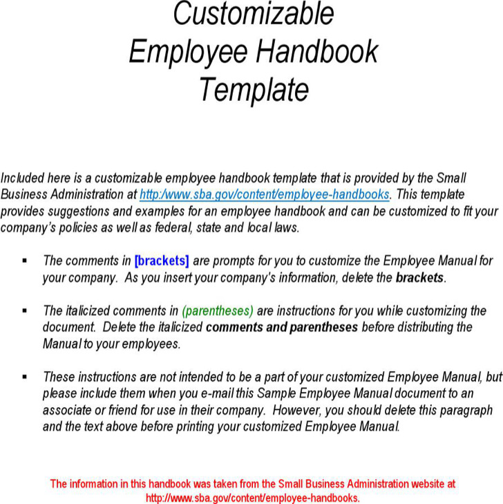 13+ Sample Employee Handbook  Manual Templates Free Download