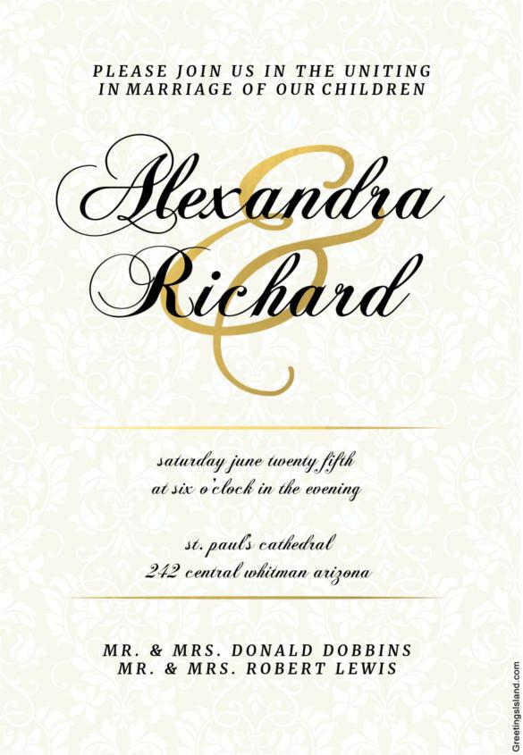 Download Wedding Invitation Templates for Free - TidyTemplates - invitation template