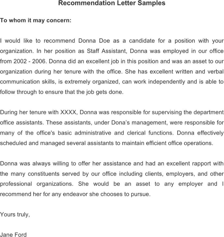 15+ Employee Recommendation Letters Free Download