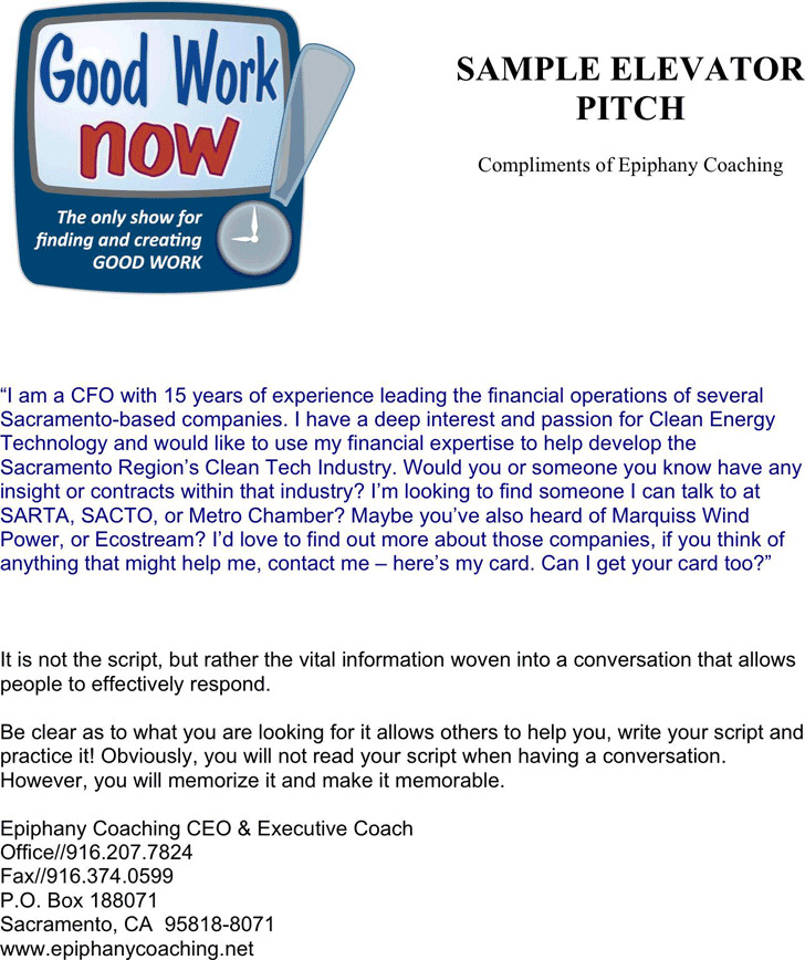 3+ Elevator Pitch Examples Free Download