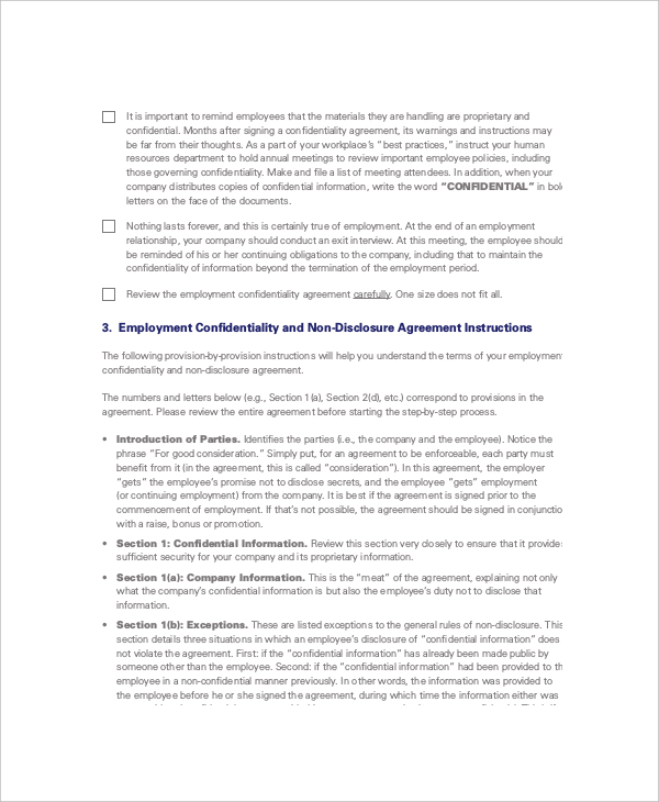 10+ Non Disclosure and Confidentiality Agreement Templates Free Download