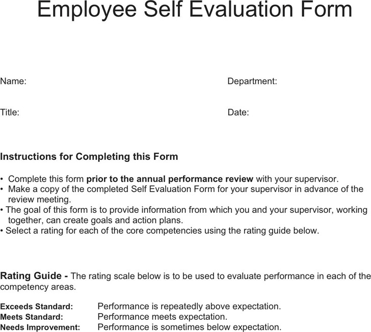 Download Employee Self Evaluation Form for Free - TidyTemplates