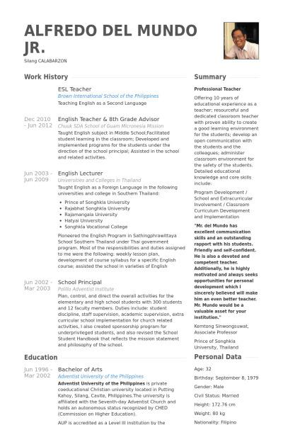 53+ Teacher Resume Template Free Download