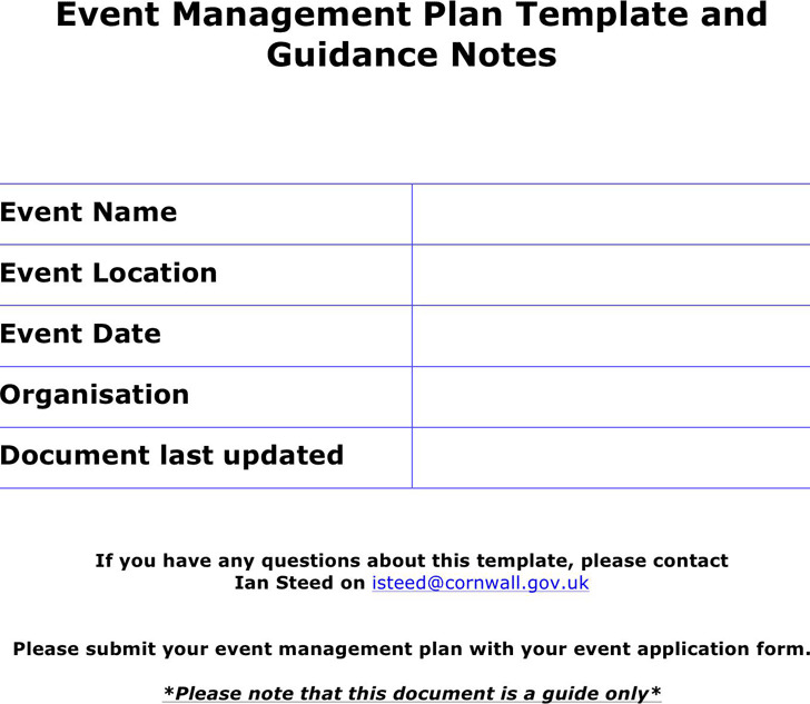 3+ Event Planning Template Free Download