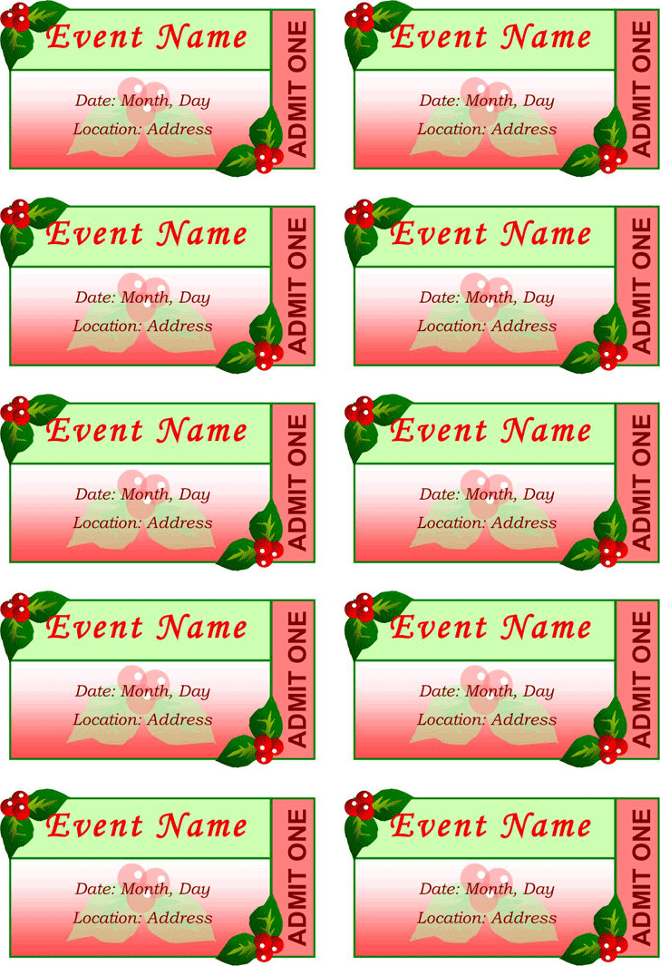 3+ Event Ticket Template Free Download