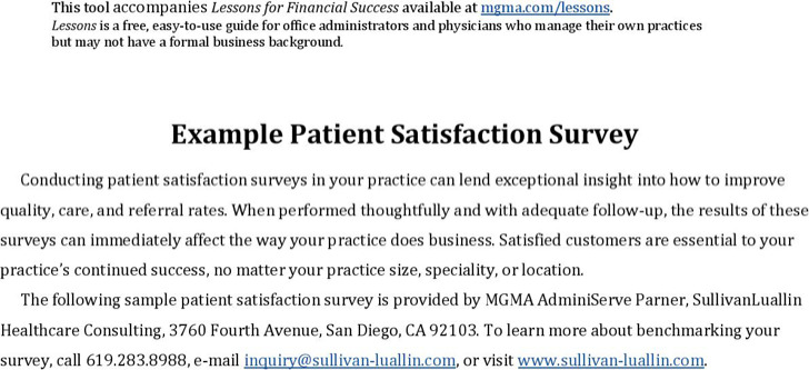 4+ Health Services Survey Template Free Download