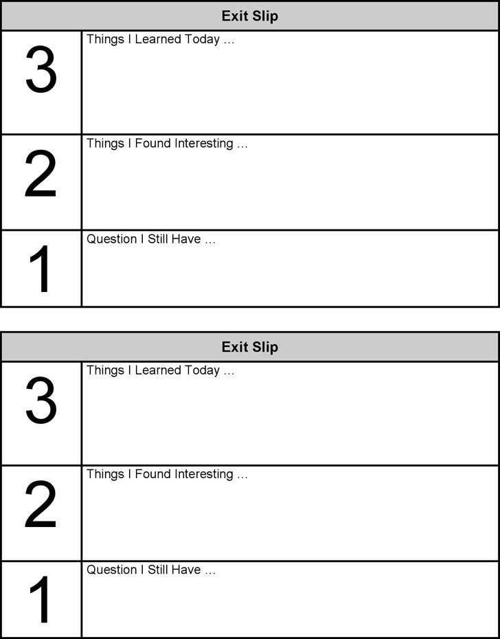 4+ Exit Ticket Template Free Download