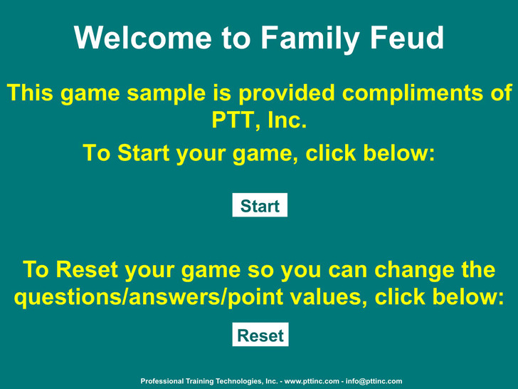 3+ Family Feud Powerpoint Template Free Download