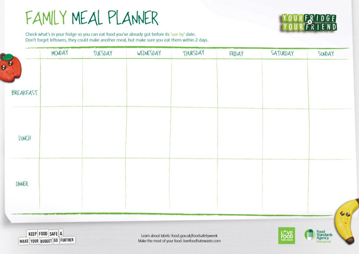 3+ Daily Meal Food Planner Templates Free Download