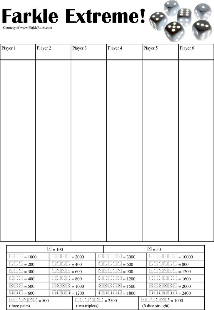 Farkle Score Sheet Template Template Grand Opening Flyer