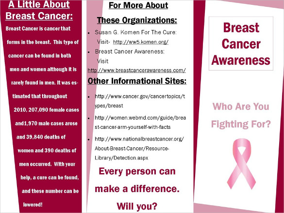 breast cancer brochure template free