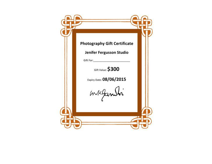 12+ Photography Gift Certificate Template Free Download