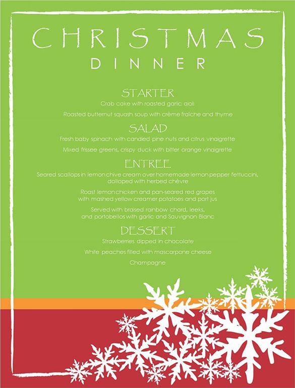 Download Christmas Menu Templates for Free - TidyTemplates - free xmas menu templates