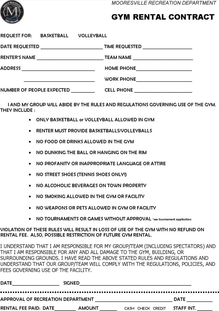 Download Gym Contract Template for Free - TidyTemplates - Contract Templates In Pdf