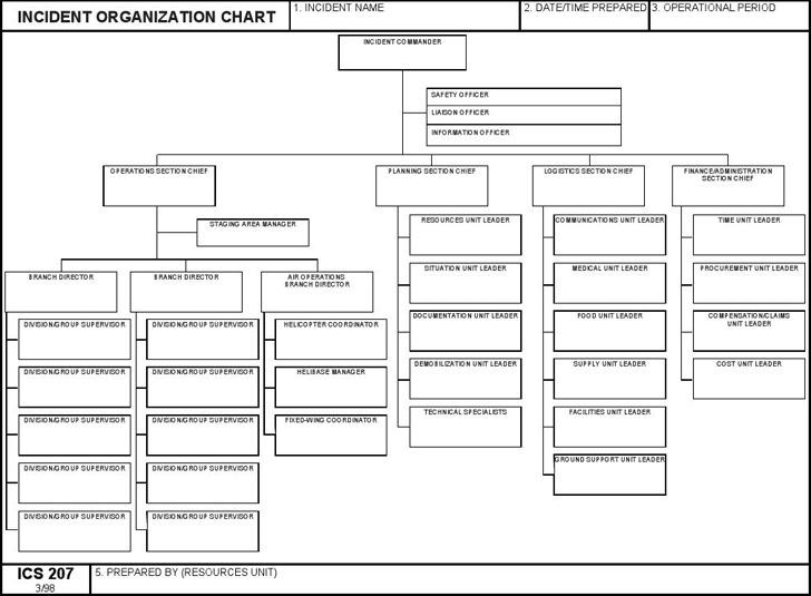 Download ICS Organizational Chart for Free - TidyTemplates