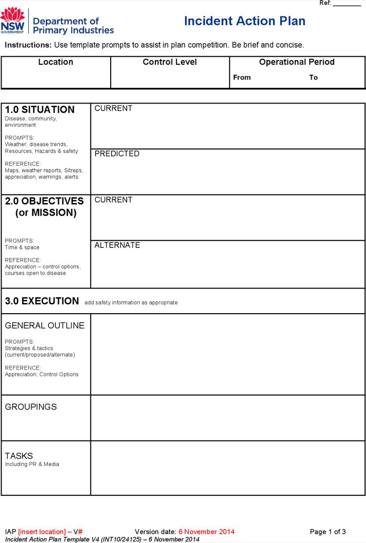 Download Incident Action Plan Template for Free - TidyTemplates