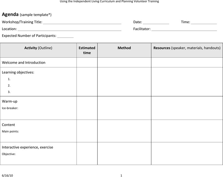 Download Training Agenda Template for Free - TidyTemplates - training agenda template