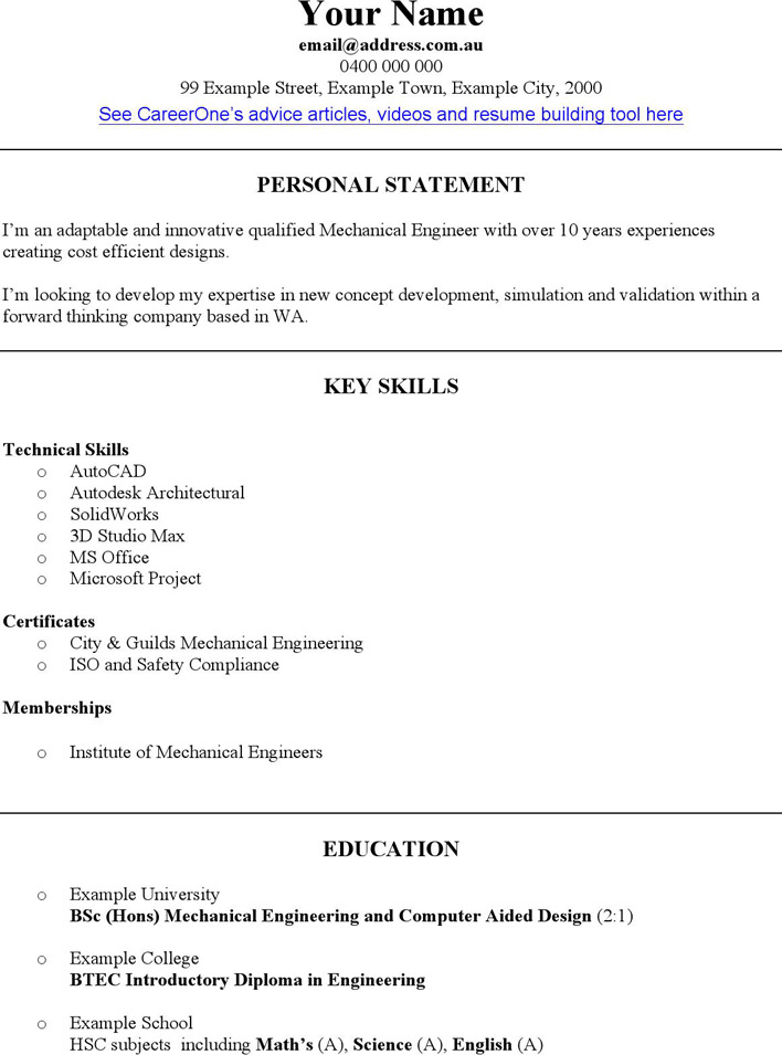3+ Engineering CV Template Free Download