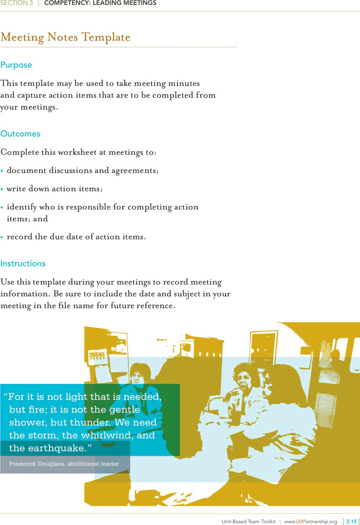 2+ Meeting Notes Template Free Download