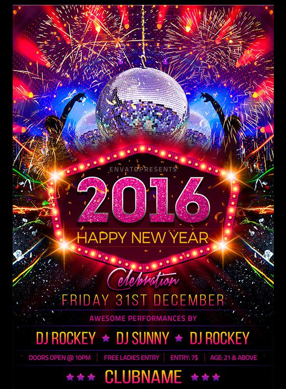 20+ New Year Flyer Templates Free Download