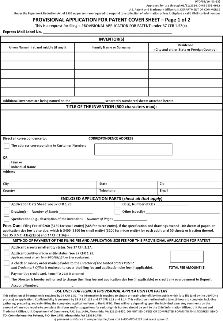 11+ Sample Patent Application Templates Free Download