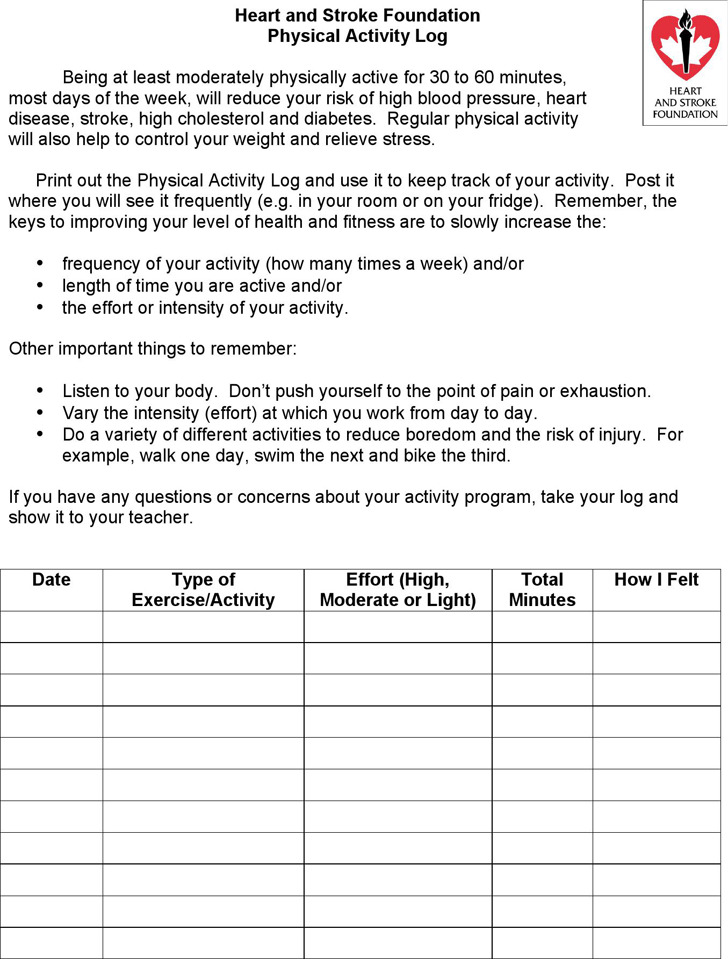 6+ Activity Log Template Free Download