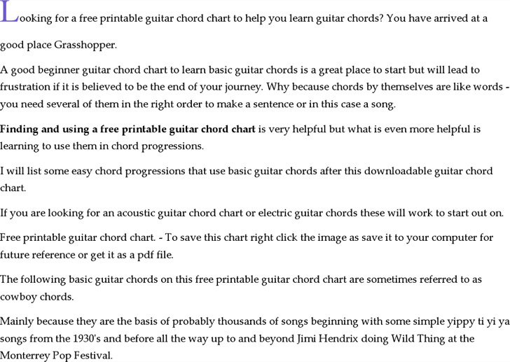 Download Guitar Chord Chart Templates for Free - TidyTemplates