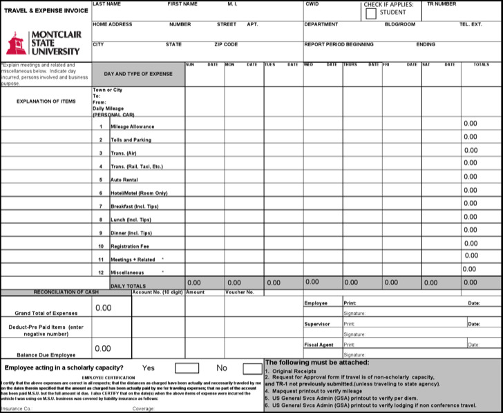Download Travel Invoice Templates for Free - TidyTemplates