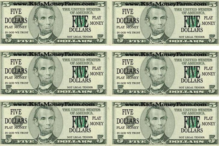 12+ Play Money Template Free Download