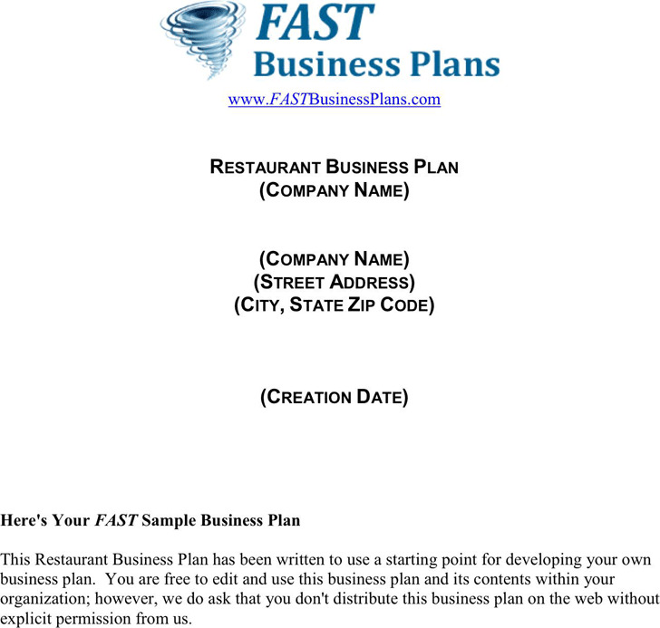 3+ Restaurant Business Plan Template Free Download