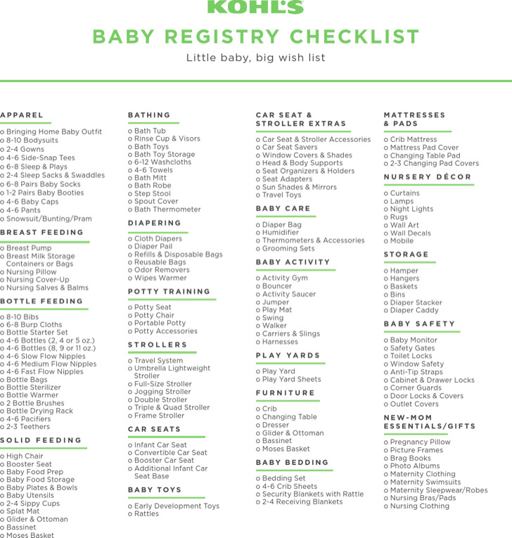5+ Sample Complete Baby Registry Checklists Free Download