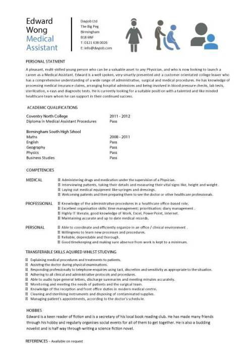 Download Sample Doctor Resume Template for Free - TidyTemplates
