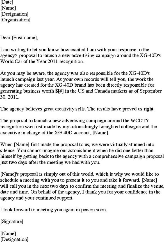 3+ Sample Proposal Letter Free Download