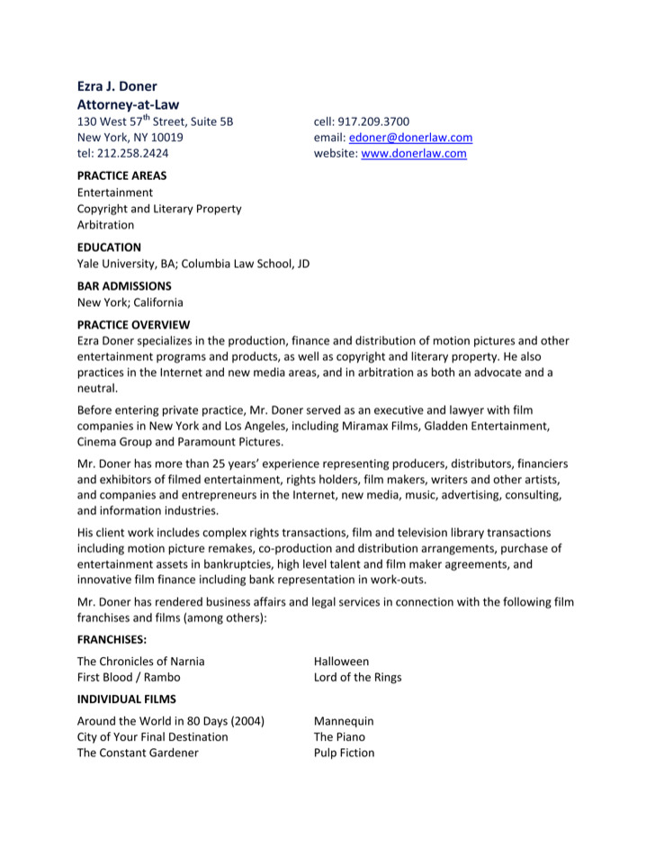 2+ Media  Entertainment Resume Template Free Download