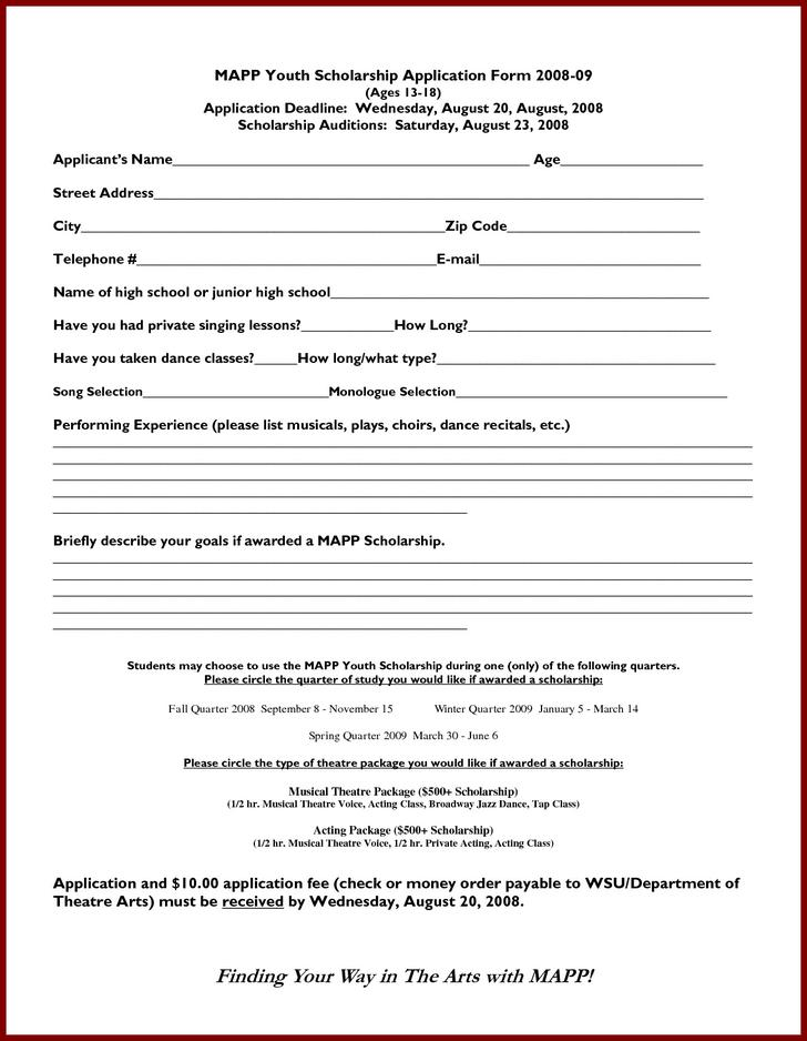 Download Scholarship Application Templates for Free - TidyTemplates