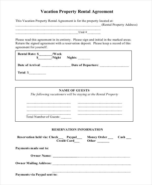 14+ Short-Term Rental Agreement Templates Free Download