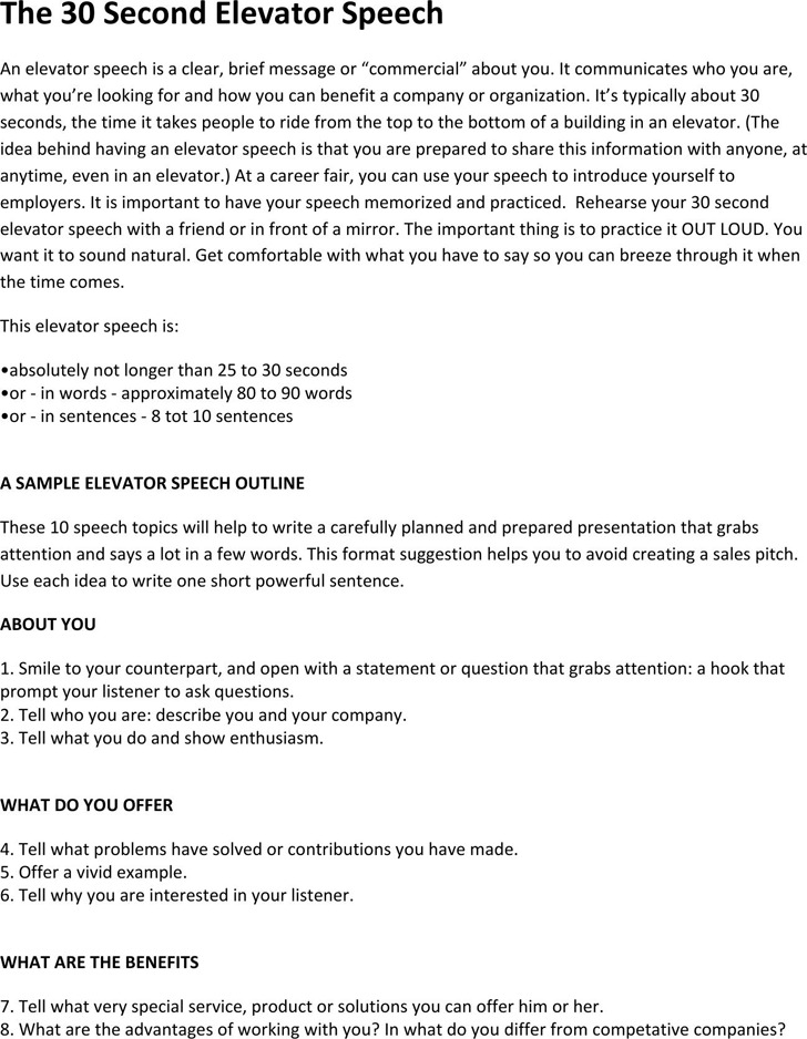 Elevator Pitch Template Powerpoint Elevator Pitch Graduate