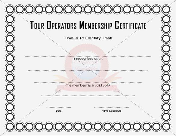 15+ Membership Certificate Template Free Download