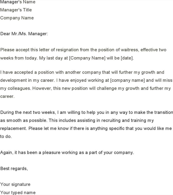 8+ Two Weeks Notice Letter Free Download