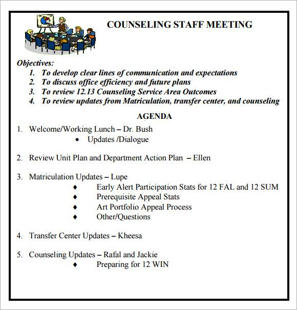 weekly staff meeting agenda template - Pinarkubkireklamowe