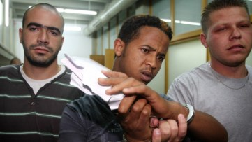 One of the three Eritreans suspected of raping a 15-year-old girl near the Central Bus Station in Tel Aviv on Independence Day. (photo credit: Roni Schutzer/Flash90)