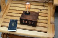 Bluetooth LE Nixie Clock with Edison Bulb Lamp from 70Th ...
