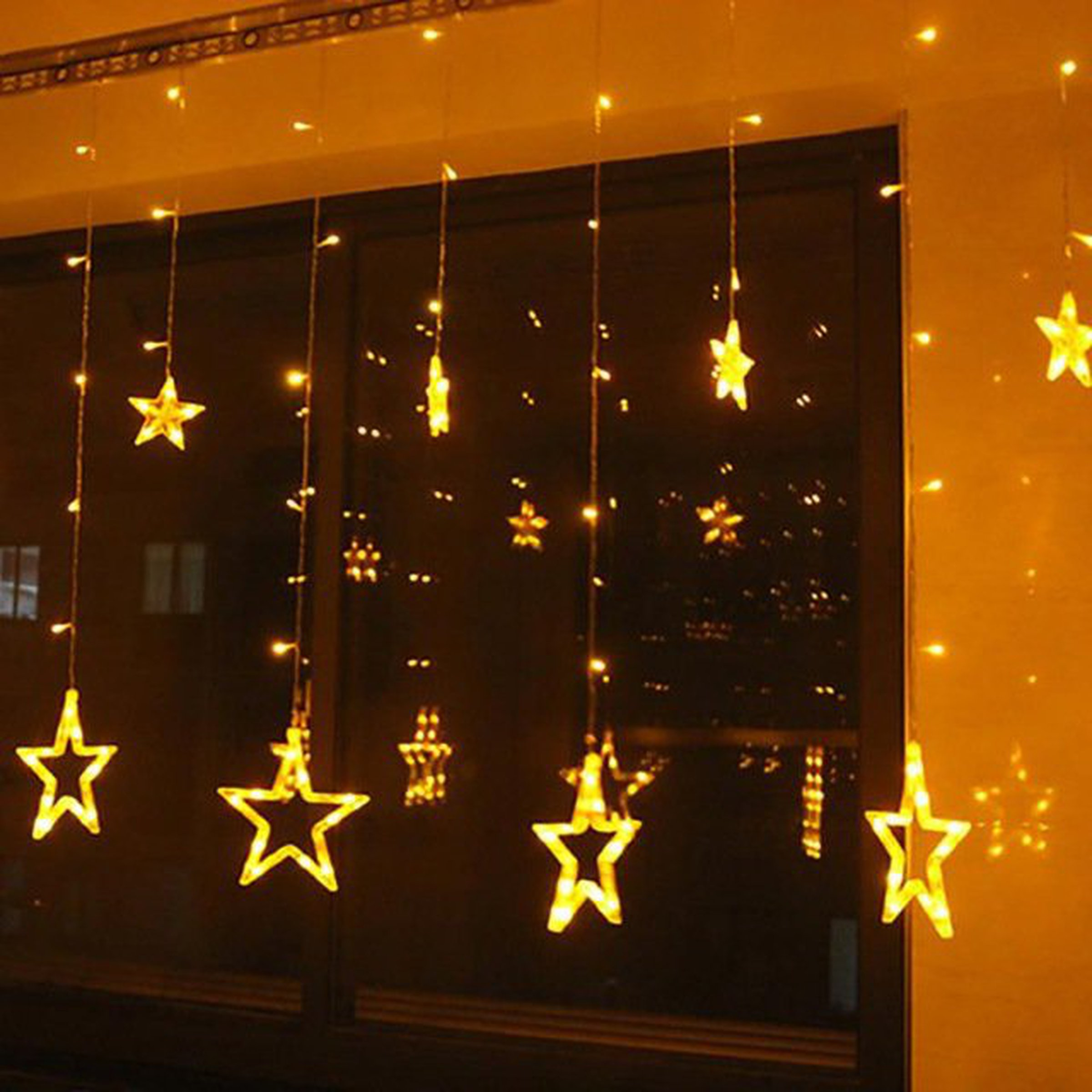 Christmas Star Lights Christmas Lights Fairy Star Led Curtain String From