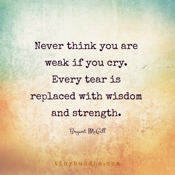 Make Your Own Quote Wallpaper Free Never Think You Are Weak If You Cry Tiny Buddha