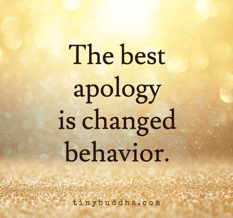 Love Quotes Wallpaper Download Free The Best Apology Is Changed Behavior