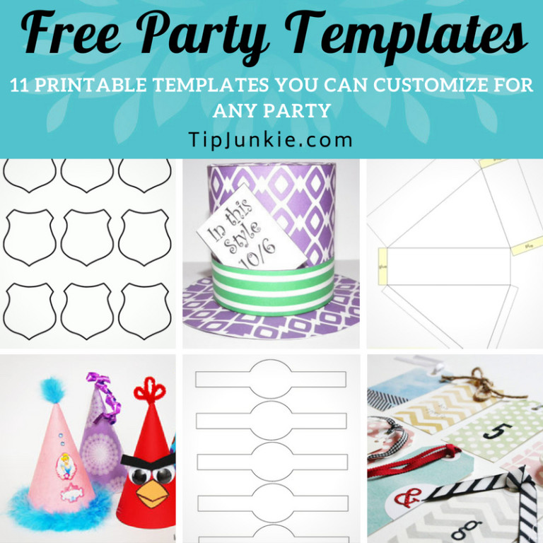 TONS of Free Party Templates to Customize for Any Party! \u2013 Tip Junkie