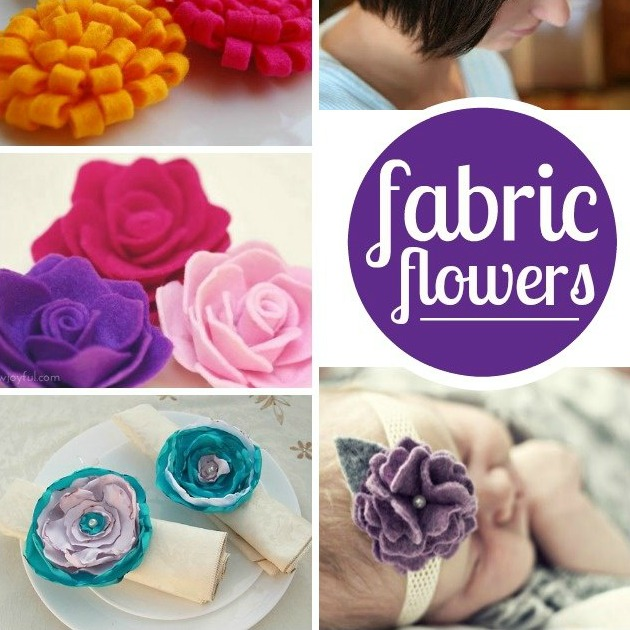 19 Beautiful Fabric Flowers To Make {tutorials} \u2013 Tip Junkie