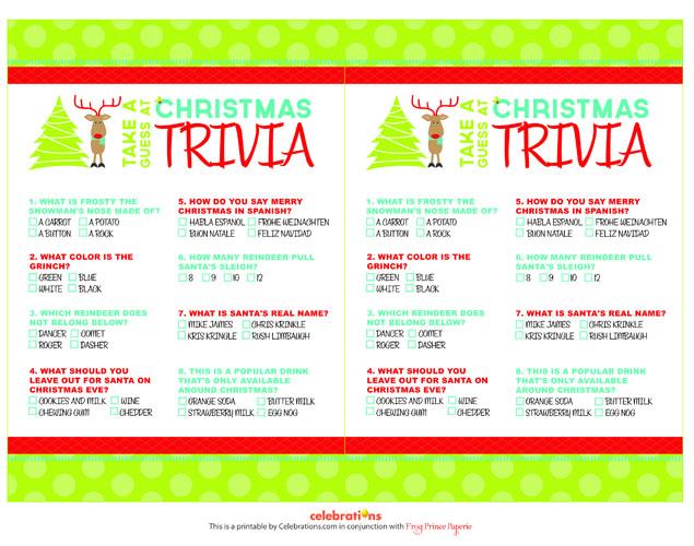 40 FREE Printable Christmas Party Games \u2013 Tip Junkie